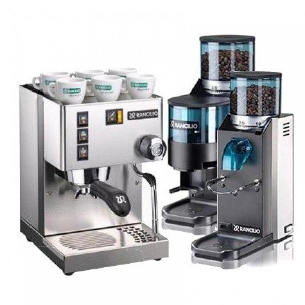 Rancilio Silvia and Rocky Grinder Package
